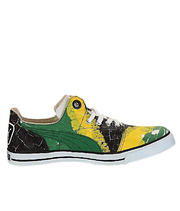 brand new b72f0 851f0 Puma Funky Green & Yellow Sneakers