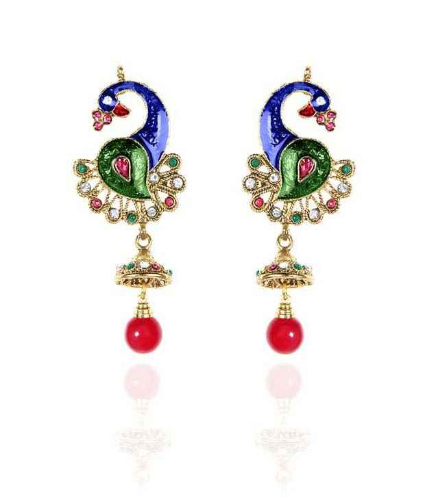 Sparkling Deals Sophisticated Peacock Earrings