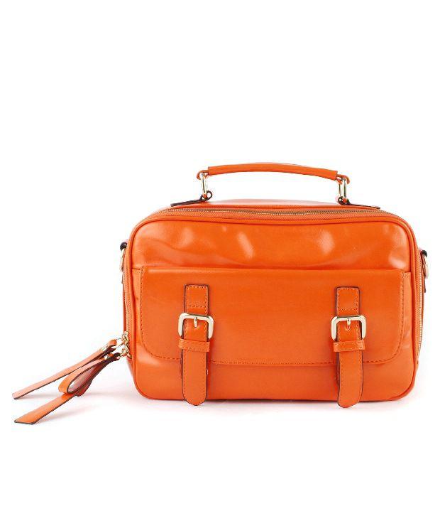 Done By None Opulent Orange Cross Body Sling Bag