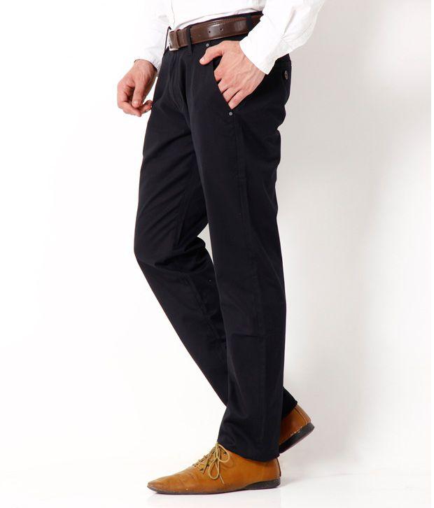 Fever Stylish Black Semi Formal Trouser