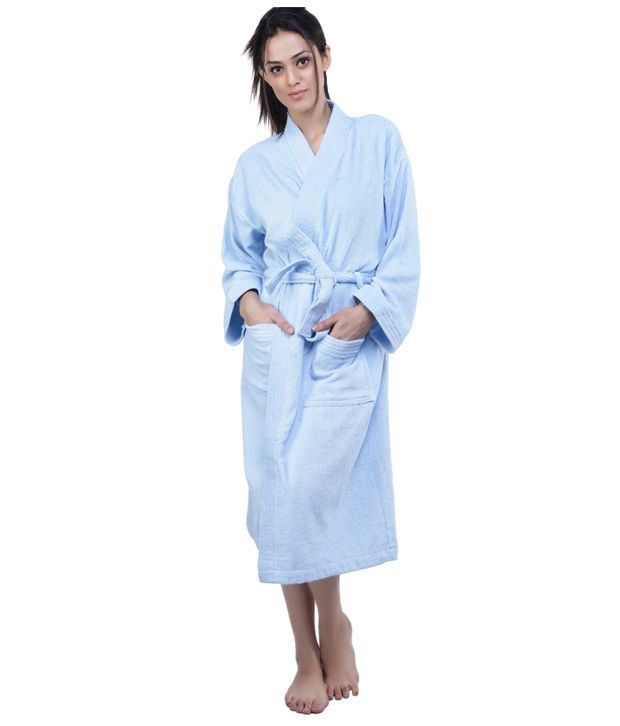 a7ea5918de Trident Premium Small Light Blue Bathrobe - Buy Trident Premium Small Light  Blue Bathrobe Online at Low Price - Snapdeal