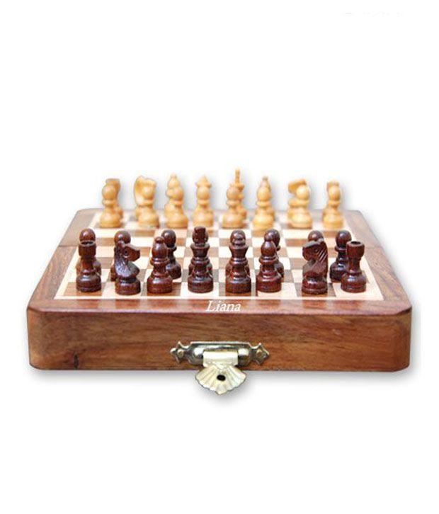 Liana Magnetic Chess Sets ( Sheesham Woods ) 12 Inch