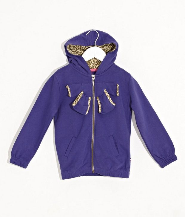 Quarter Spoon Hoody With Bow Detail For Kids