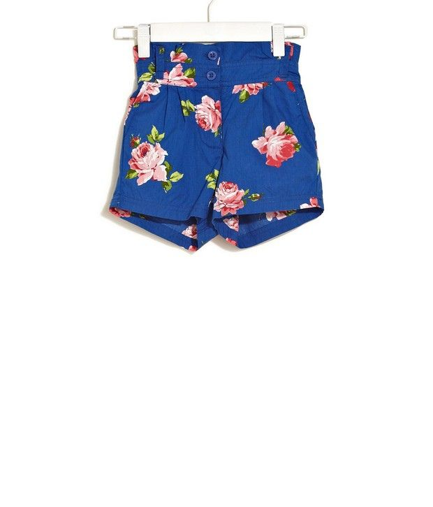 ELLE KIDS Floral Shorts With Pleated Waist For Kids