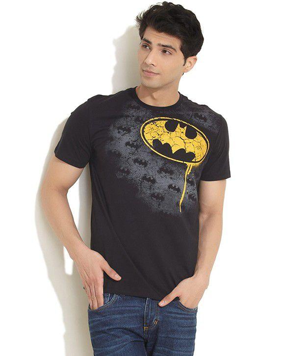 Free Authority Black Tonal & Vibrant Batman Logo Tee