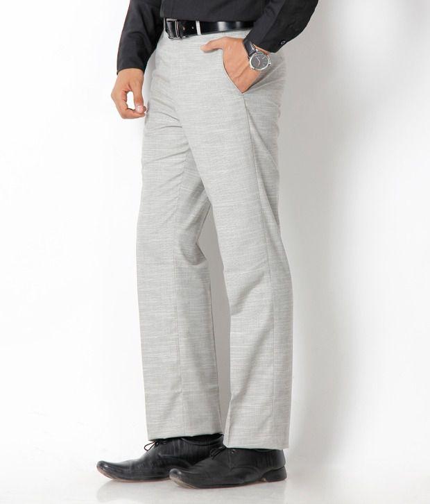 Platinum Studio Grey Semi Formal Trouser