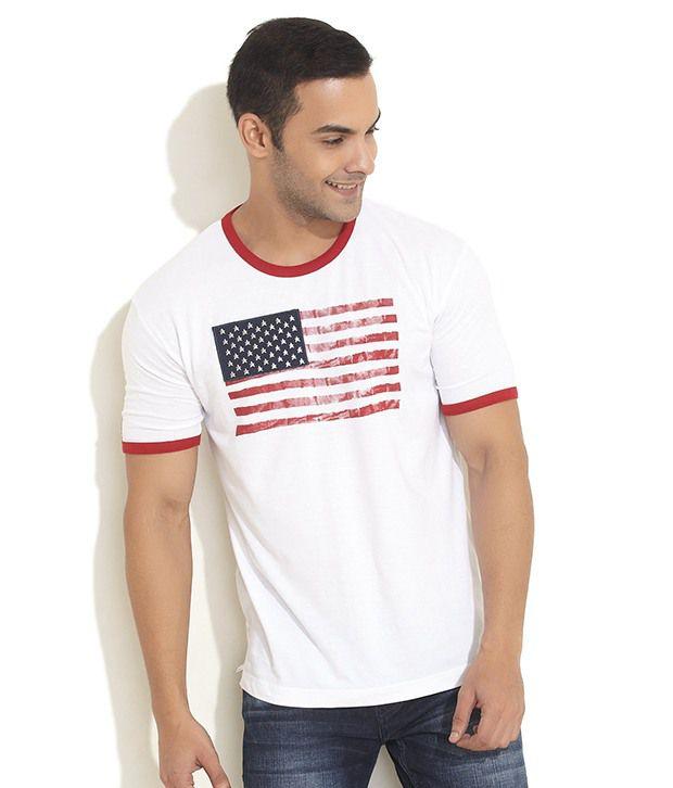 Steenbok White Stars & Stripes T- Shirt