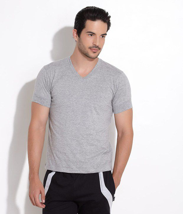 Fcuk Grey Comfort Cruiser T- Shirt