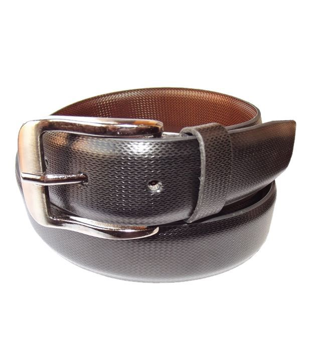 Diamond Smart Black Textured Finish Belt