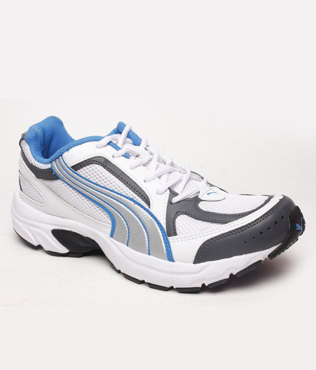 Puma Proactive White & Black Sports Shoes