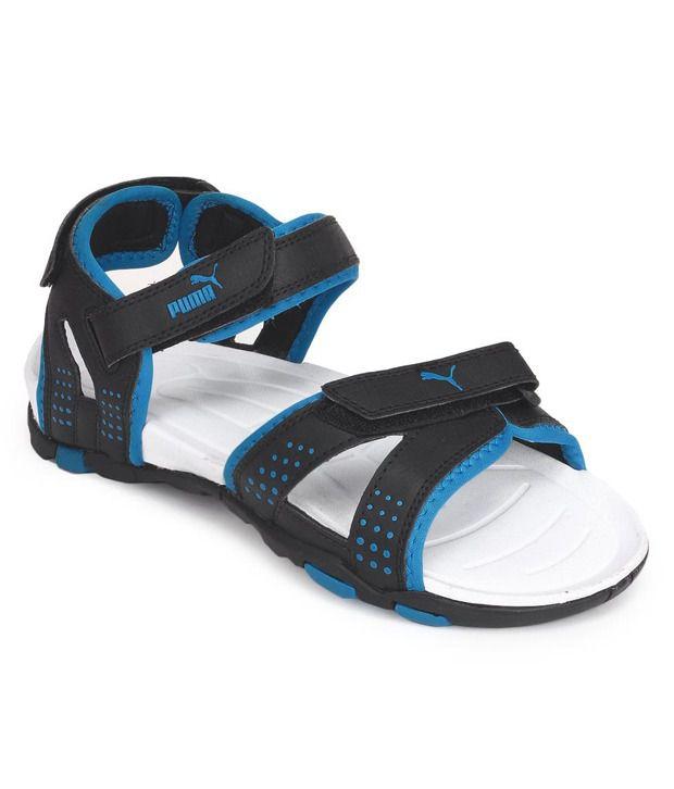 Puma Black Floater Sandals