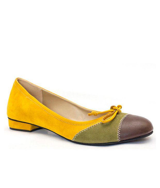 Azores Chic Yellow Ballerinas