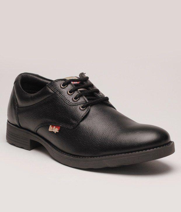 lee cooper black formal shoes