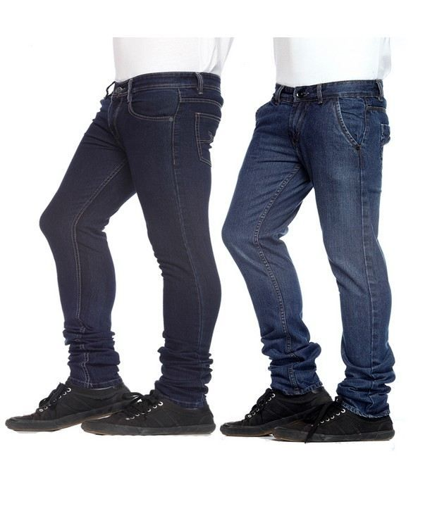 NX Dark Blue,Black Basic Pack of 2  Jeans