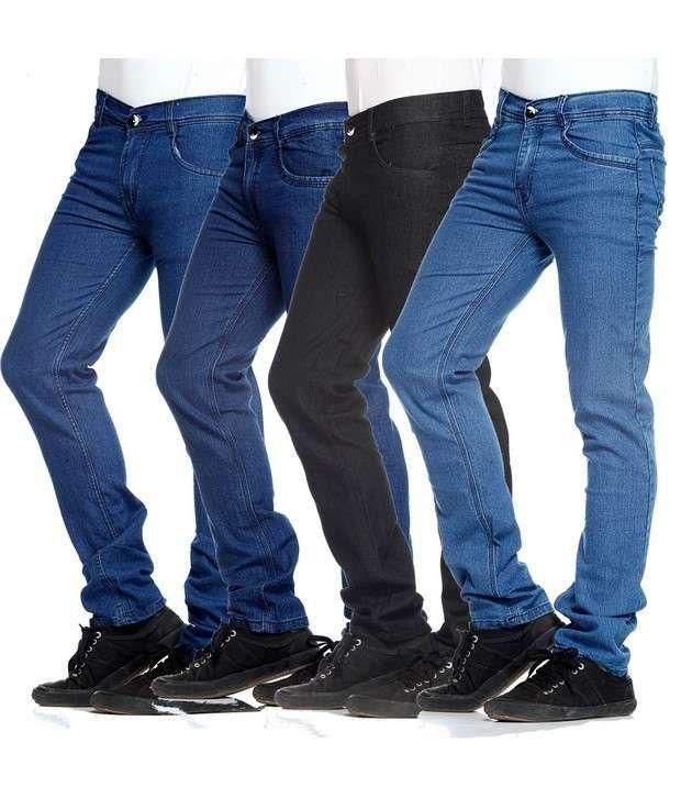 NX Black, Blue & Navy Basic Pack of 4 Jeans