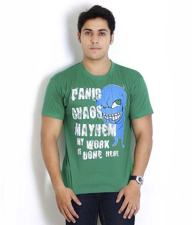 Globus Green Printed T Shirt