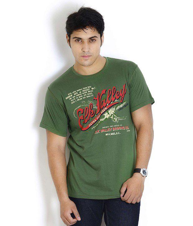 Globus Smart Green Printed T Shirt