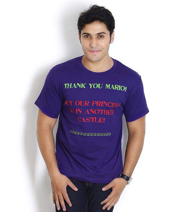 Globus Exquisite Purple Printed T Shirt