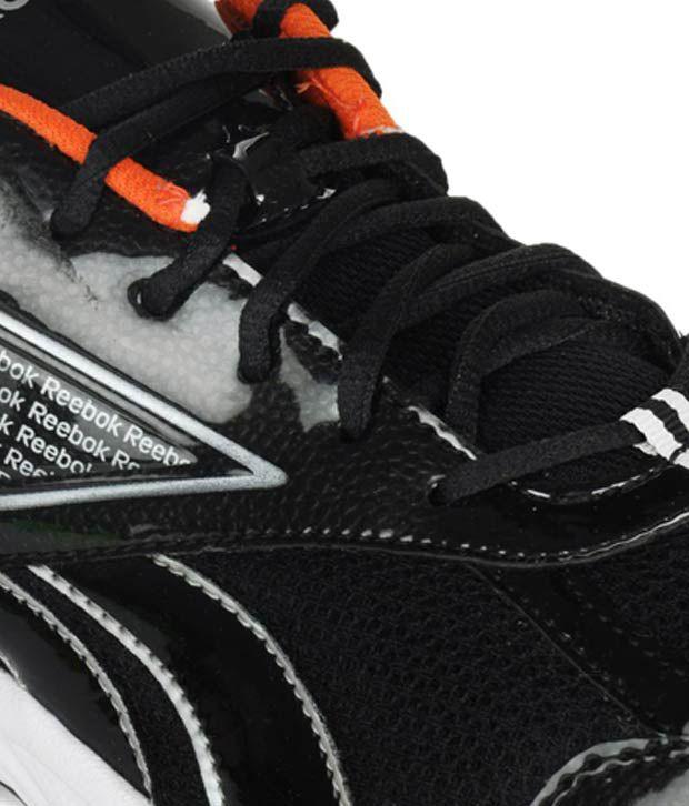 reebok linea black running shoes