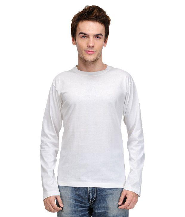 TSX Full Sleeves White T-Shirt