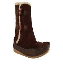 Salt 'n' Pepper Cosy Dark Brown Mid Calf Boots