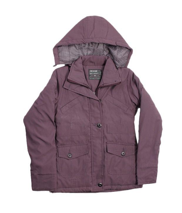 Okane Light Purple Hooded Jacket For Kids