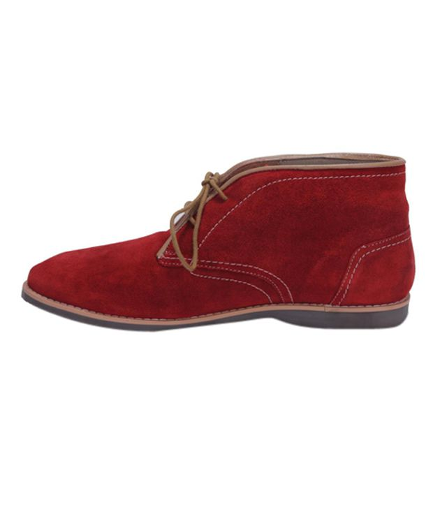 Mocc's Red Ankle Length Boots