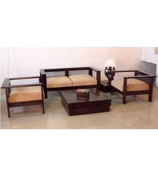 induscraft stylish indian wooden sofa set centre table side table rh snapdeal com