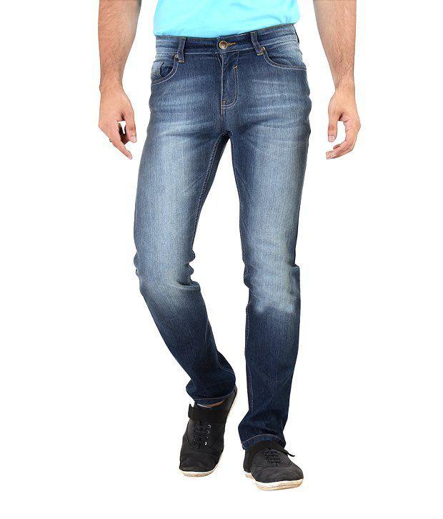 Euro Jeans Blue Slim Fit Jeans For Men