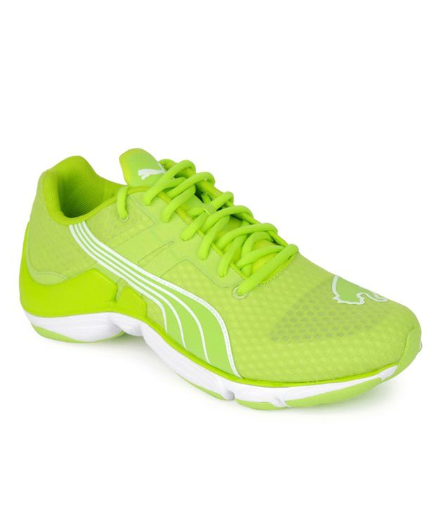 Puma Neon Green Lace-up Running Shoes