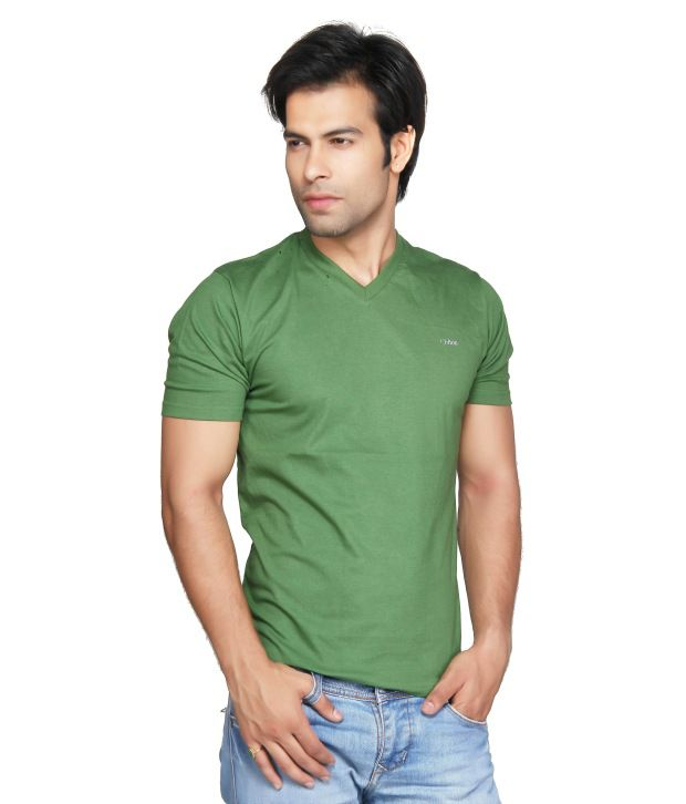 Clifton Green Cotton V-Neck T Shirt
