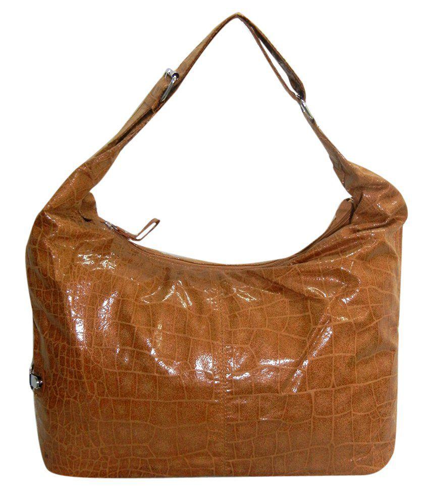 Nell Textured Light Brown Shoulder Bag