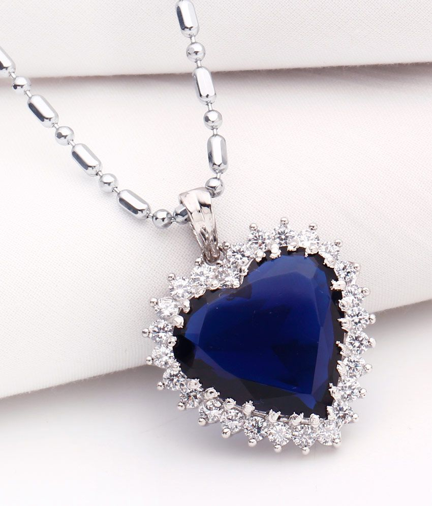 Heart of Ocean Titanic Blue Stone Pendant with Chain by Create A witty INC.
