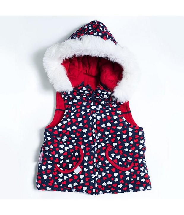 Nauti Nati Red Reversible Jacket For Kids