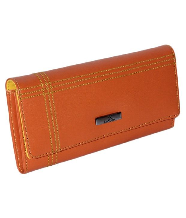 K London Casual Orange Wallet For Women