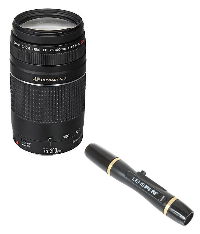 Canon EF 75-300mm f/4-5.6 III USM Lens + Lenspen Lens Cleaner Combo