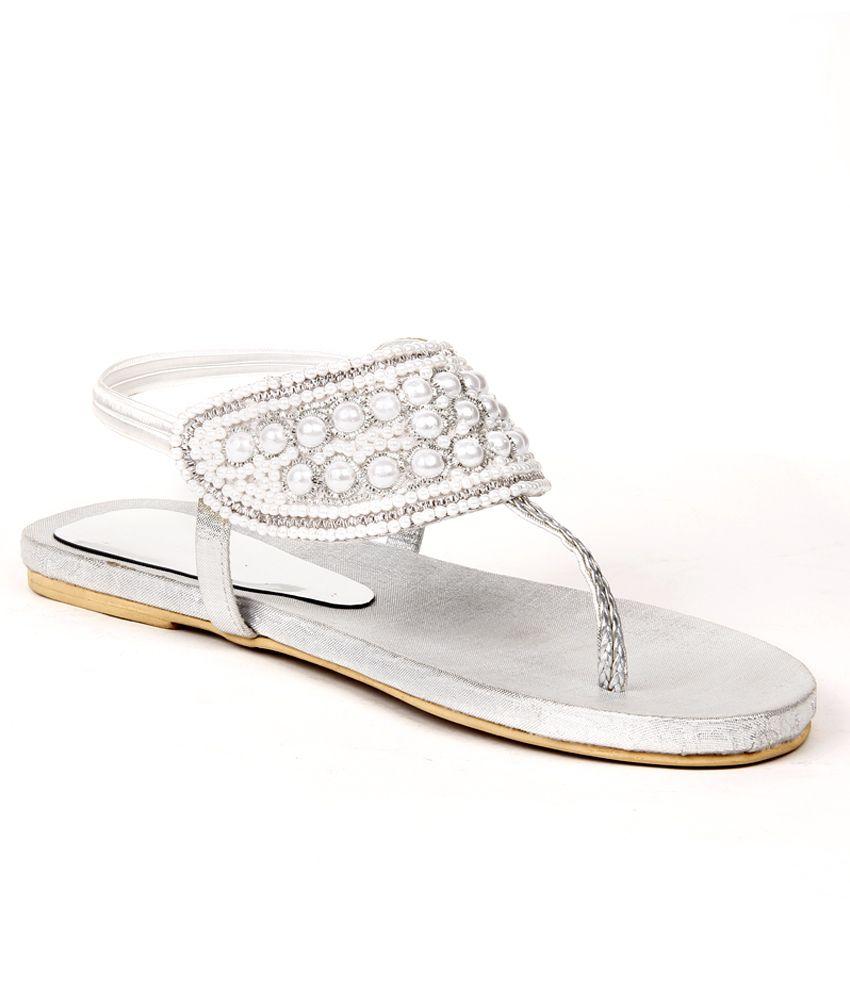 Do Bhai ShoeBazaar Regal Silver Slipon Flats