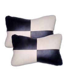 AutoSun - Designer Car Seat Neck Cushion Pillow - Black And Beige