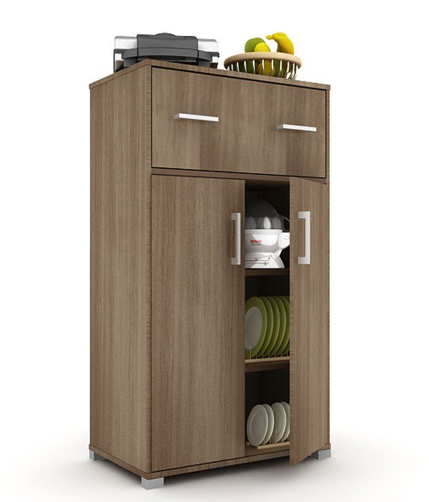Housefull Benin Kitchen Cabinet Walnut Buy Housefull Benin Kitchen Cabinet Walnut Online At