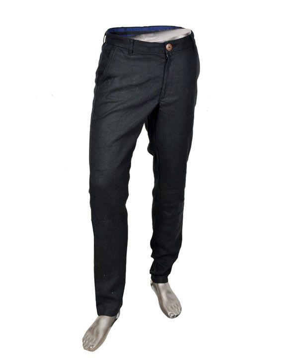 Pachha Black Linen Trouser