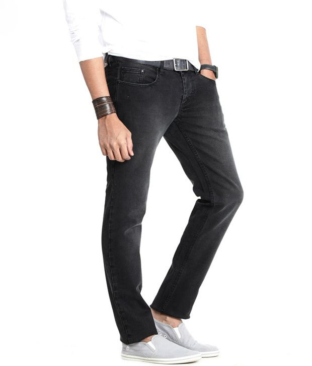 Basics 029 Cool Black Faded Jeans
