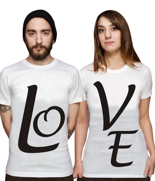 Loveusale Pack Of White Men's & Women's Tee