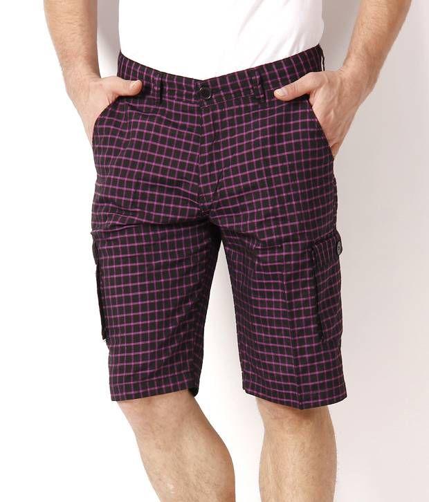 British Terminal Pink Checkered Shorts