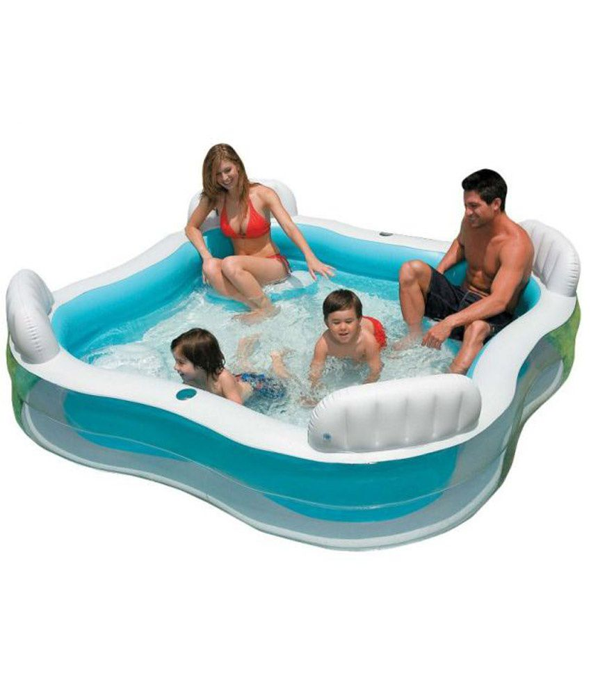 Intex swim center family lounge pool buy online at best for Piscine enfant