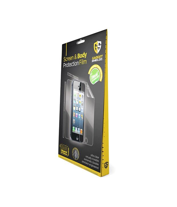 detailed pictures abb3d 9ad58 Gadget Shieldz Screen Protector For Apple iPhone 5 - Mobile Screen ...
