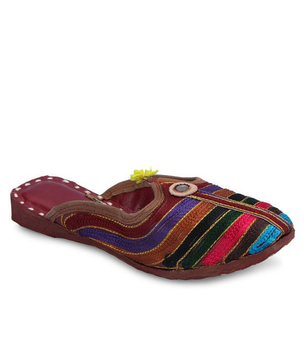 Ethnic Collection Multicolour Synthetic Flats