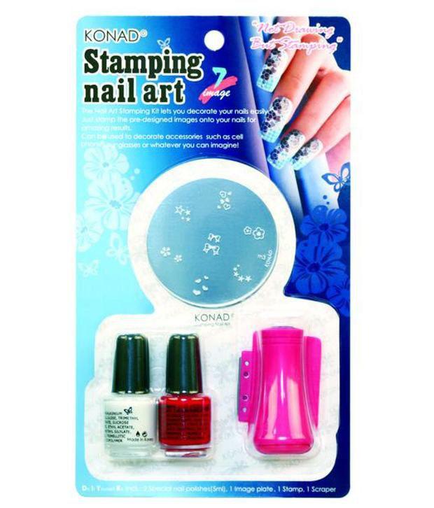 Nail Art Cost Price: Konad Stamping Nail Art Kit