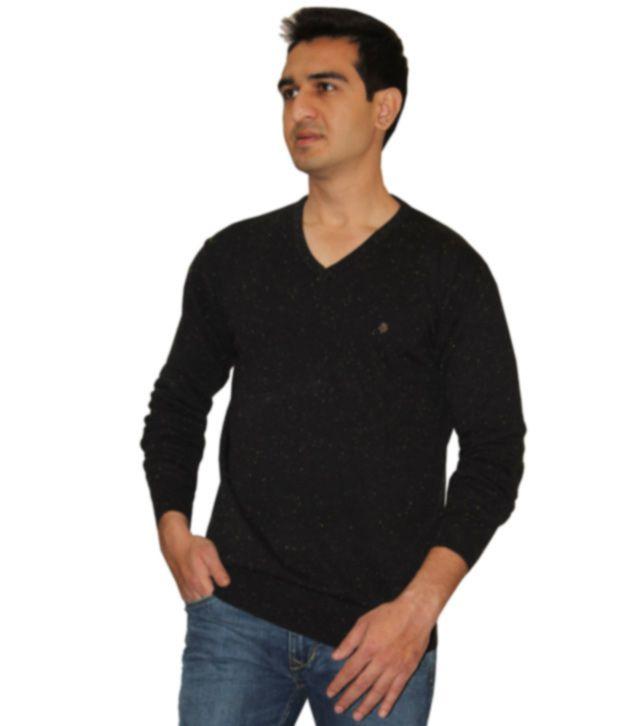Necked Jeans Black Fullsleeves T Shirt