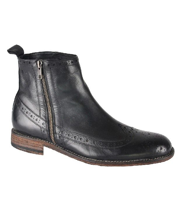 Salt 'n' Pepper Impressive Black High Ankle Length Boots