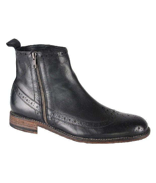 Salt n Pepper Impressive Black High Ankle Length Boots